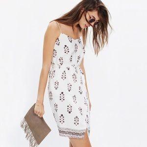 Madewell Ivory Silk Sandstar Silk Cami Short Dress